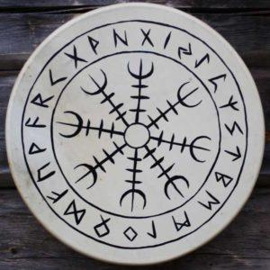 Aegishjalmur-viikinkirumpu-shamandrum-viking