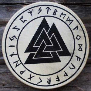 valknut-vikingsdrum-viikinkirumpu-shamaanirumpu
