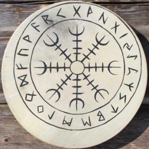 viikinkirumpu-Aegishjalmur-shamaanirumpu-shamandrum